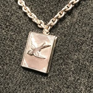 Jewelry - Silver Lucky LooLoo Sparrow Book Locket Necklace